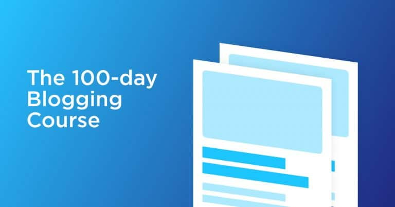 100 days blogging course