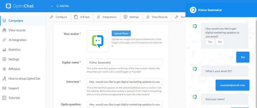 How To Setup OptinChat In WordPress?